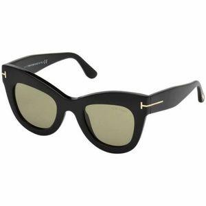 Tom Ford Cat Eye Style Sunglasses W/Green Lens